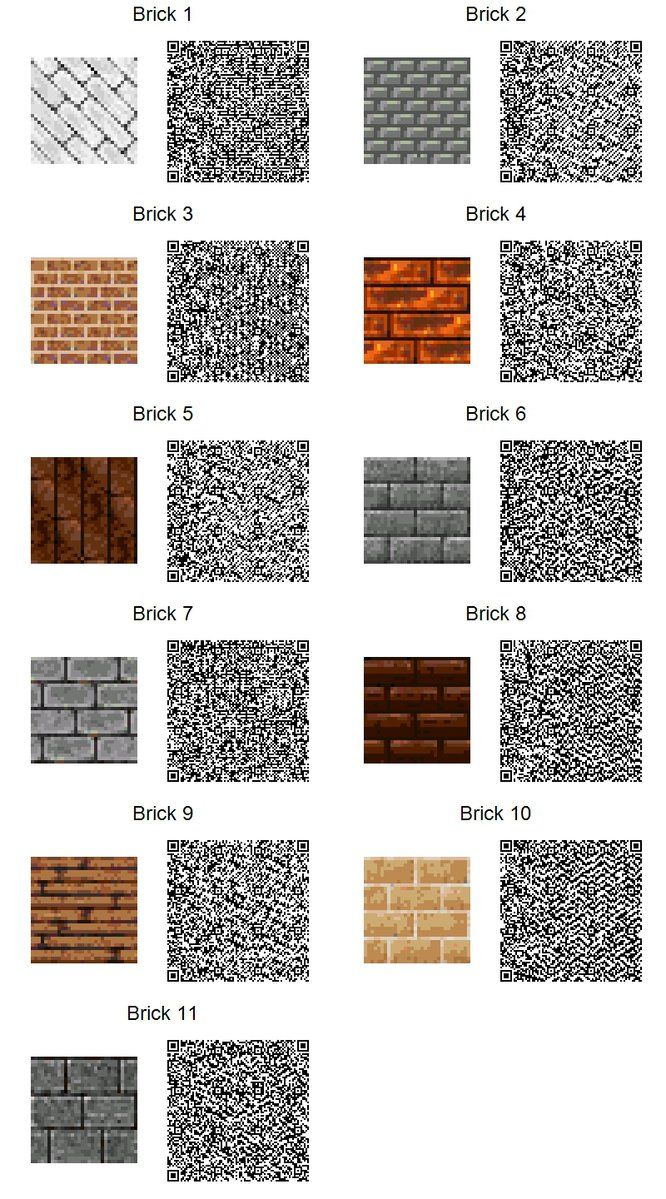 ACNL QR Code Brick Tiles (If too small, use download link