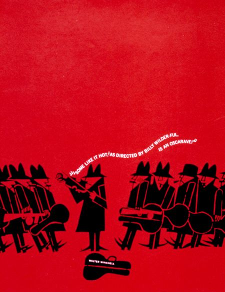 Academy Award consideration poster for Some Like It Hot by Saul Bass (1959)