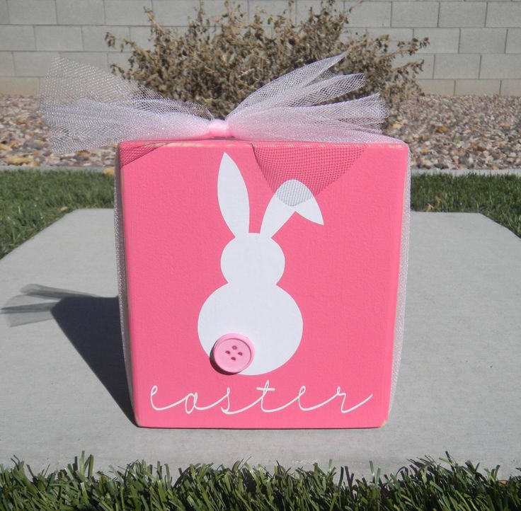 Easter Bunny Block, via Blocks Paper Paint. 15% off all items in the shop using coupon code CHIRP15