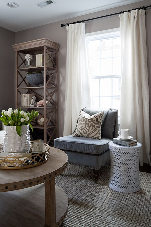A Luxe Home Makeover By JWS Interiors. Blue Curtains Living RoomWhite ...
