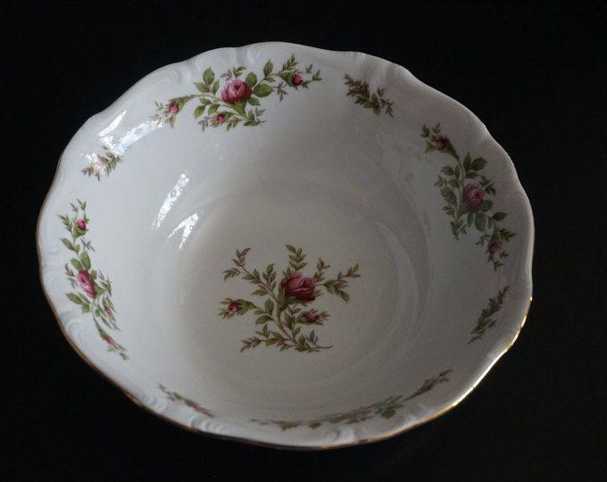 4 Johann Haviland Rose Moss Bavaria Soup Bowls