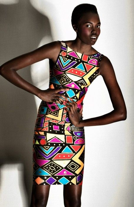 """blackandkillingit.com..yeah, I """"LOVE"""" that look! Reminds me of a dress that my Mommy had back in the 90's, but of course, I was still to young to rock it...but now...I gotta have it! *giggles*"""
