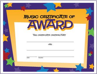 74 best music award certificates free images on pinterest free free music award certificate with stars httpmakingmusicfunhtm yelopaper Image collections