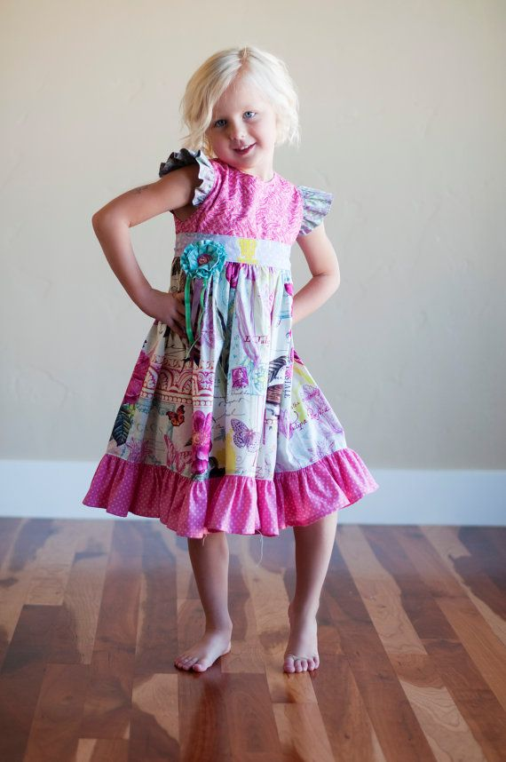 This listing is for the Instant Download PDF sewing pattern and tutorial on how to make this beautiful dress, using your own sewing machine and