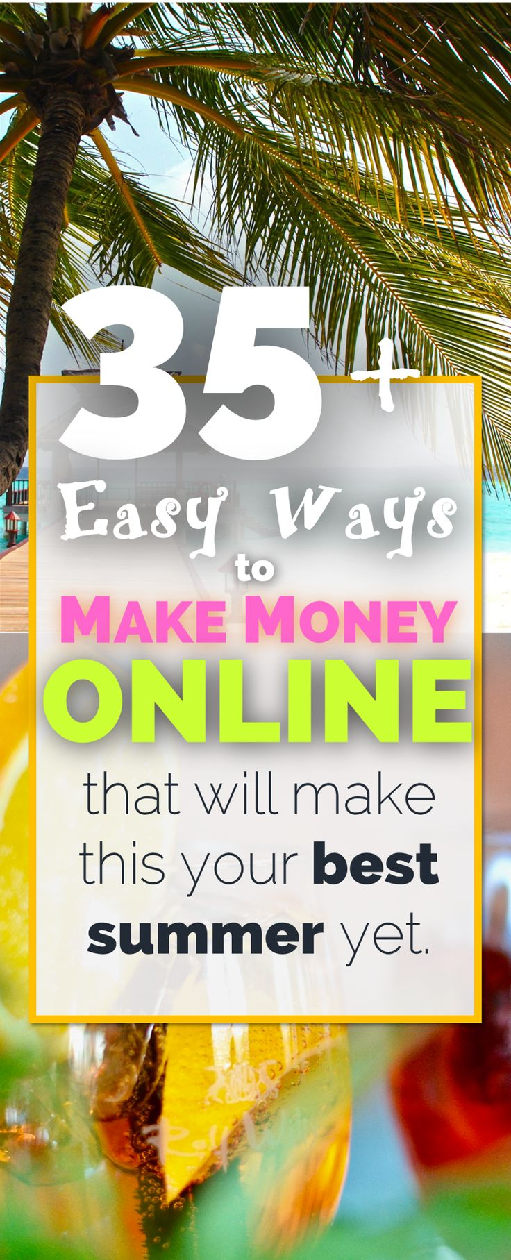 Looking for a side hustle this summer to make money online? Here's an AMAZING list of 35 ways to make extra money without leaving your house...or the beach!