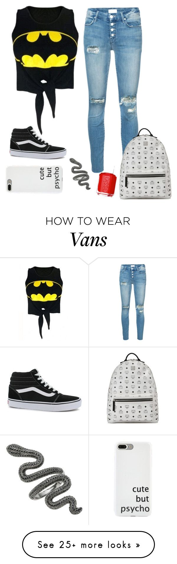 """#755"" by anna-siegl on Polyvore featuring Mother, WithChic, Vans, MCM and Essie"