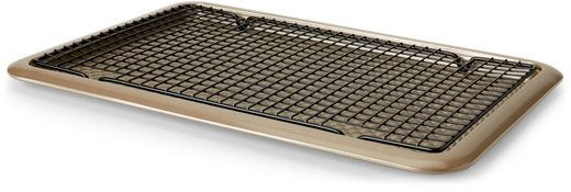 """art and cook 18"""" Nonstick Cookie Sheet With Cooling Rack"""