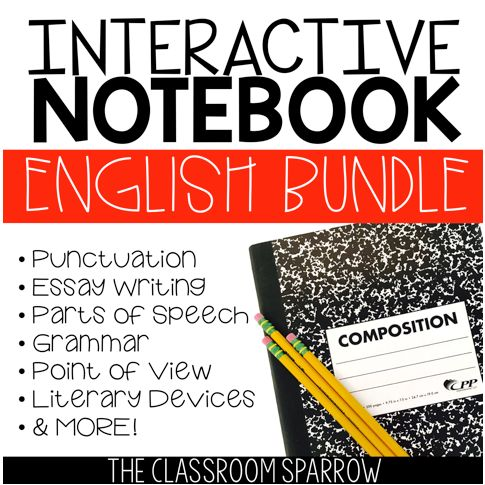 best interactive notebooks images interactive ela interactive notebook activities bundle essay grammar punctuation etc