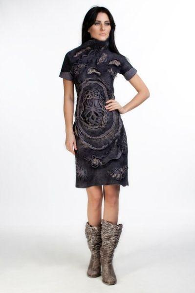 Strangely dimensional dress.