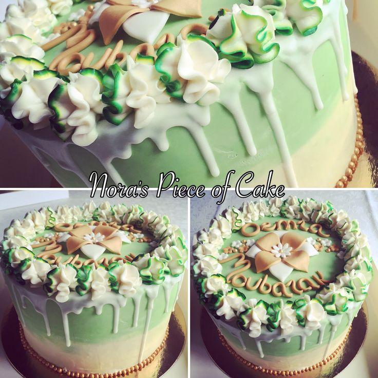 White/green layercake