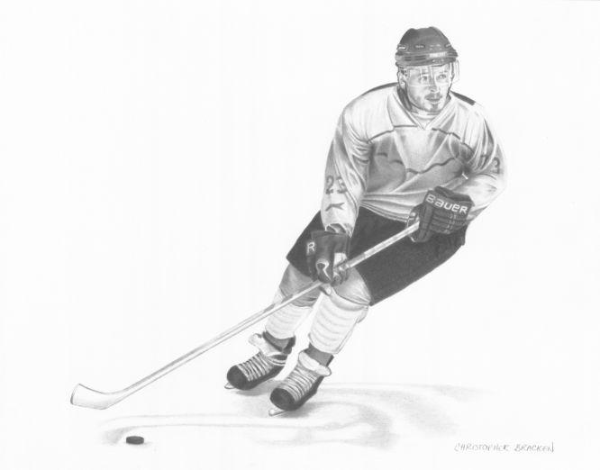 Hockey Player Drawing My Pencil Drawings Pinterest