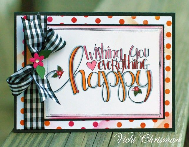 Happy Card by Vicki Chrisman | www.tammytutterow.com