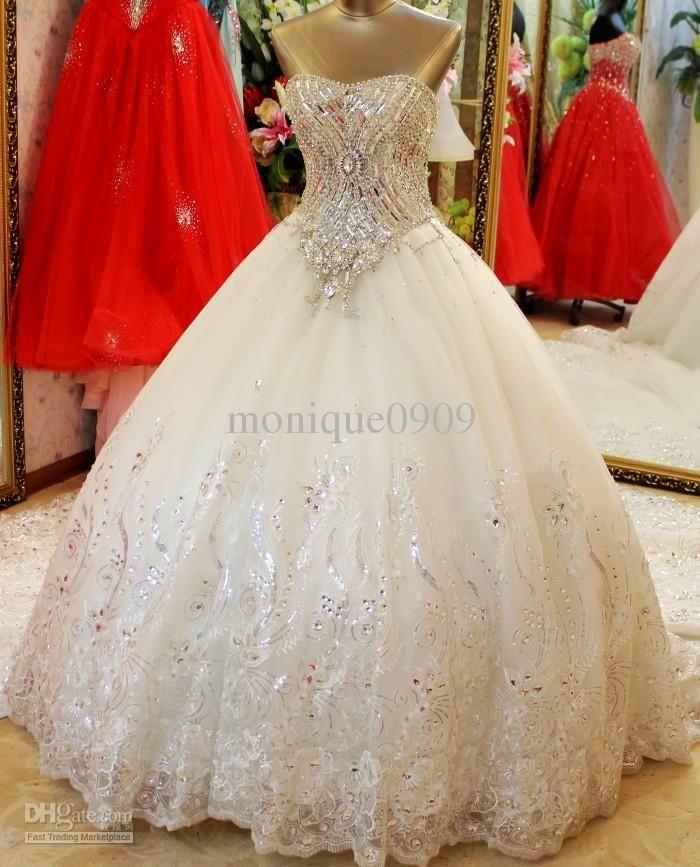 Best 20 Wedding dresses with bling ideas on Pinterest