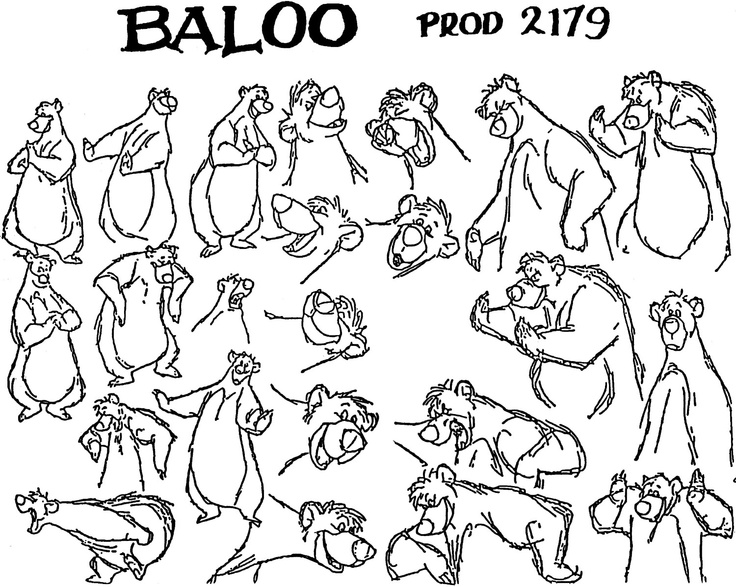 Top 10 Character Design Books : Best images about baloo de beer on pinterest disney
