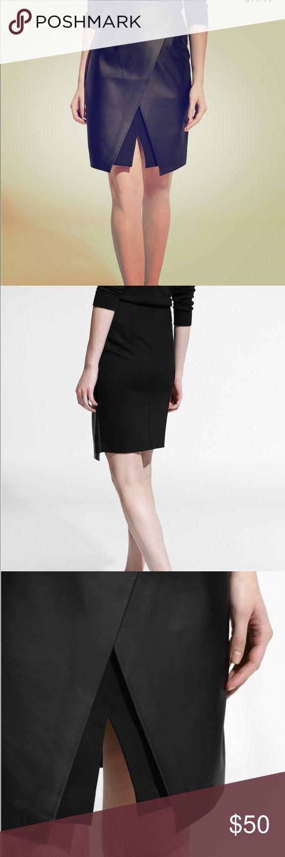 *NWT* Faux Leather Slit Wrap Skirt Size XXS *NWT* Faux Leather Slit Wrap Skirt Size XXS Mango Skirts