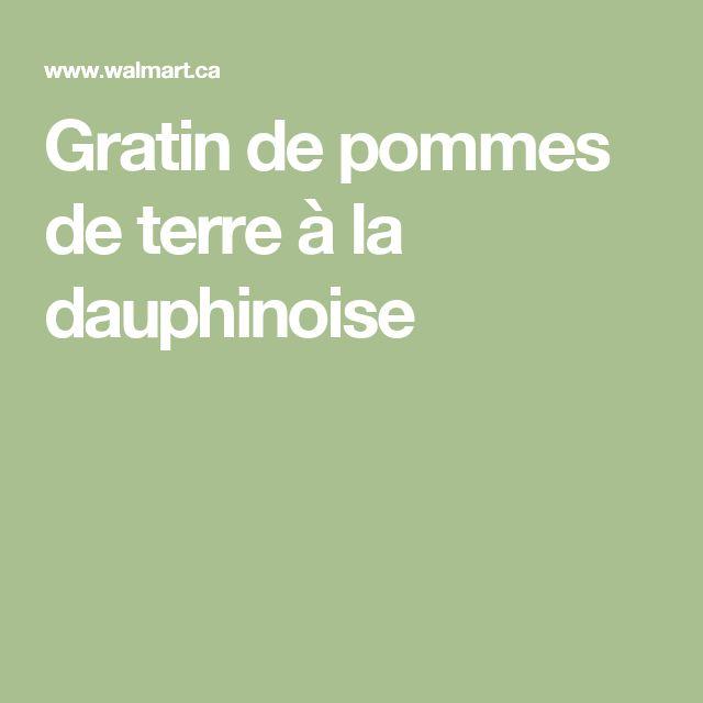 Gratin de pommes de terre à la dauphinoise