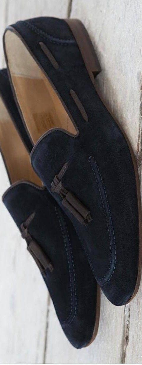 H By Hudson Pierre Retro Navy Suede Loafer | LBV ♥✤ | KeepSmiling | BeStayHandsome