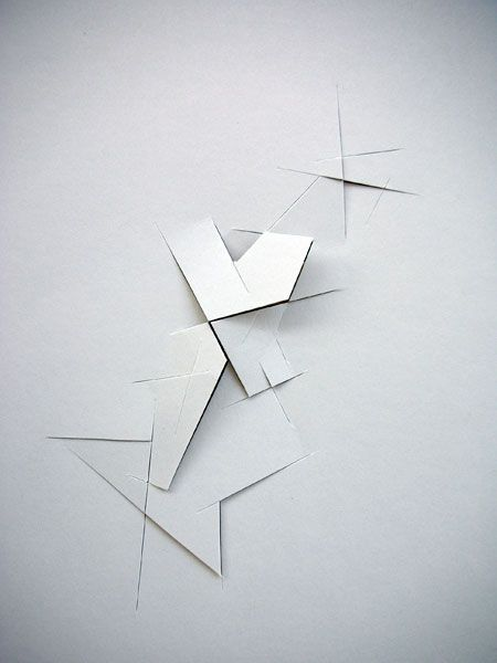 """Vjeko Sager - Antimatter.  paper cutouts 12"""" x 8"""" drawings charcoal on conte paper 13"""" x 19"""""""