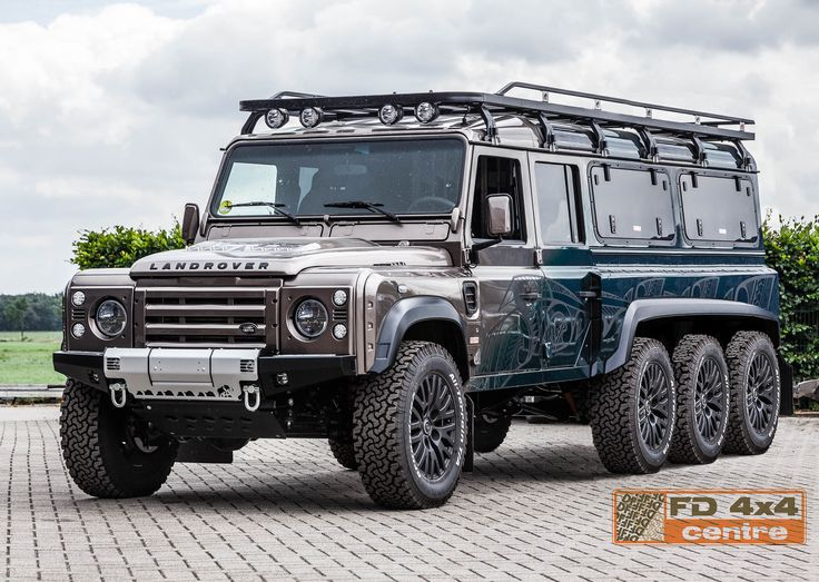 Land Rover Defender 8x8 by FD 4x4 Centre. With a nice roof rack and bumper from Tembo 4x4