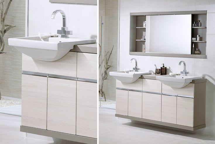 50mm aragon flint laminate worktop from Utopia Bathrooms.
