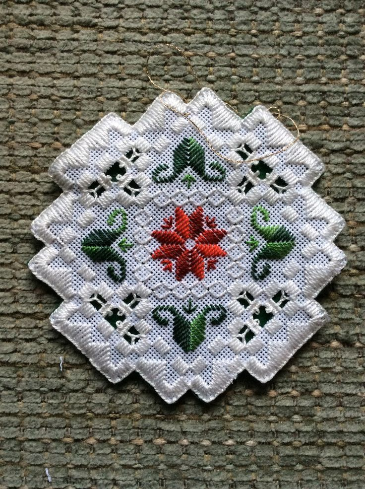 Hardanger Ornament #1. Finished on Boxing Day!