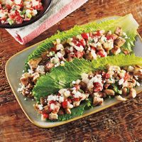 lettuce wrapped Baja Chicken Tacos with Honey Mustard Salsa Fresca ...