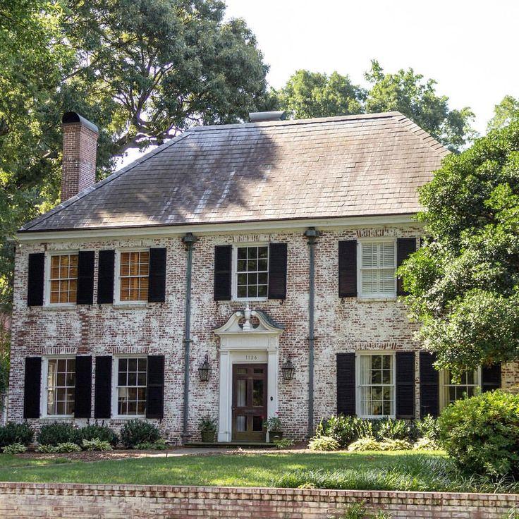 Colonial Home Design Ideas: 34 Impressive Brick House Exterior Design Ideas That You