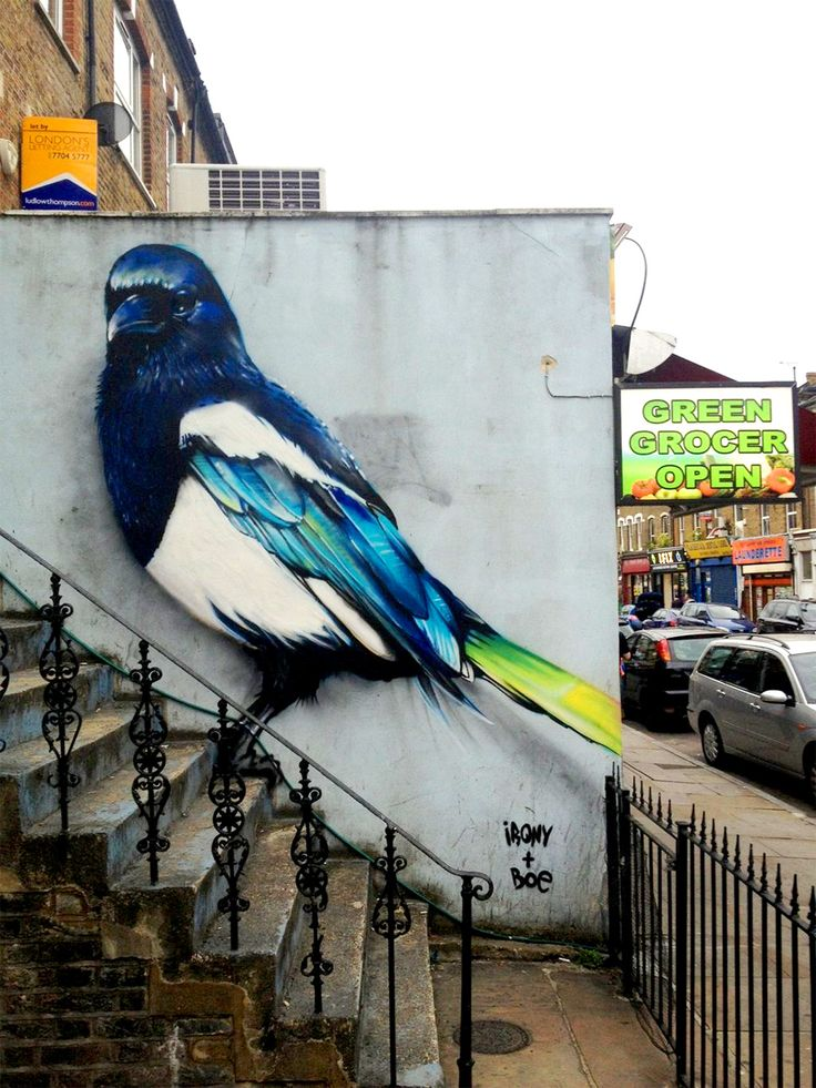Irony & Boe #street #art #graffiti #bird