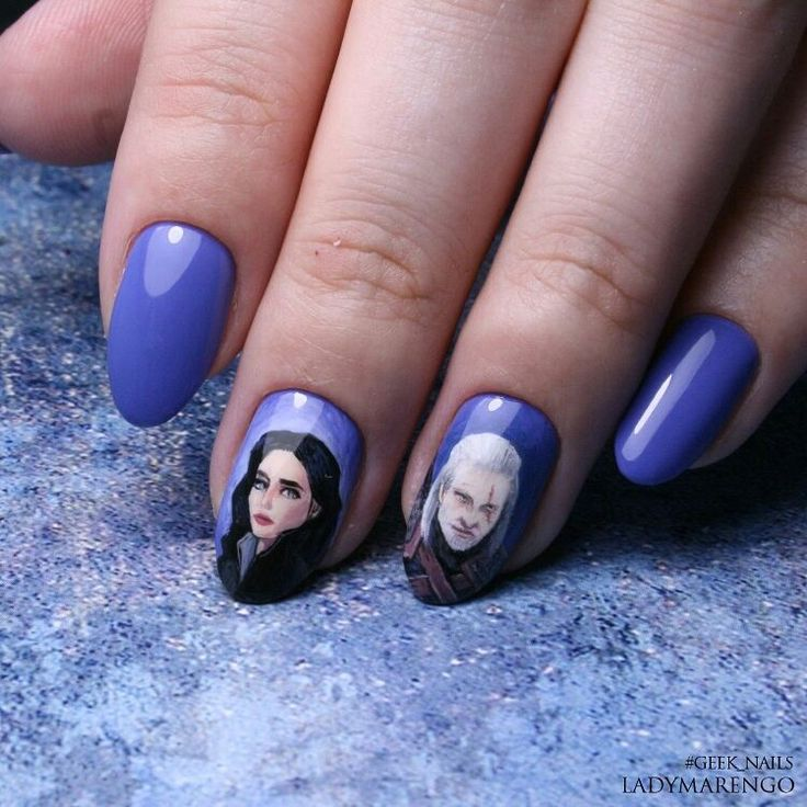 #geeknails  #шеллак #гельлак #нейларт #ногти #маникюр #дизайнногтей #nailart #naildesign #witcher