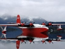 Port Alberni's famous Mars Water Bomber. These old work horses primary job these days is forest fire fighting. You can actually see them located at Sproat Lake outside Port Alberni BC Canada