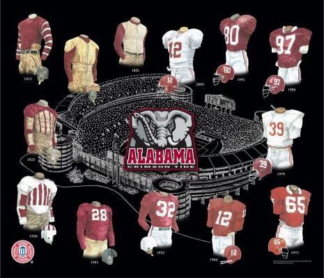 Vintage Alabama Football 81