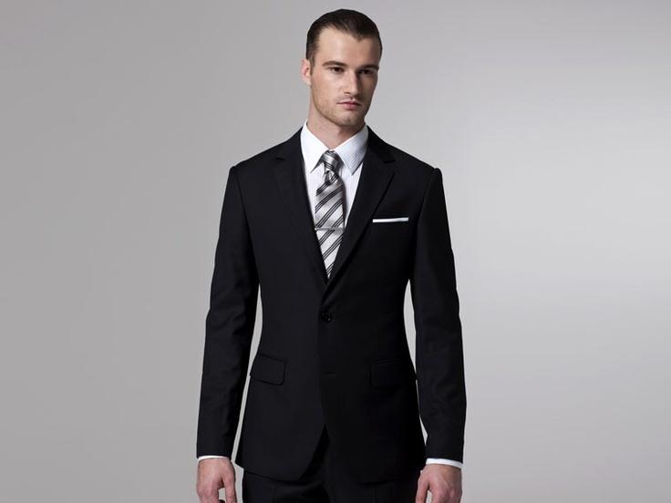 The classic custom black suit