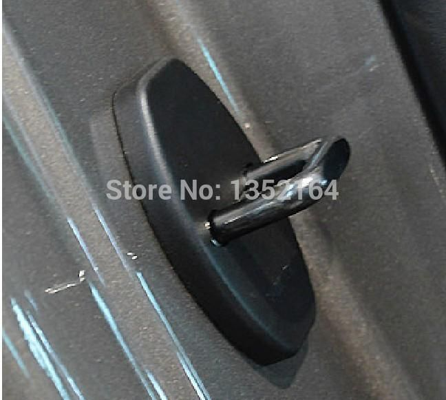 [Visit to Buy] Auto door lock buckle cover,shock absorber pad for Skoda yeti, superb, fabia,rapid,4pcs/lot,free shipping #Advertisement
