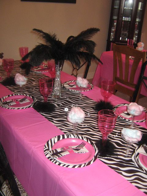 Rock star  Party Zebra print tableware