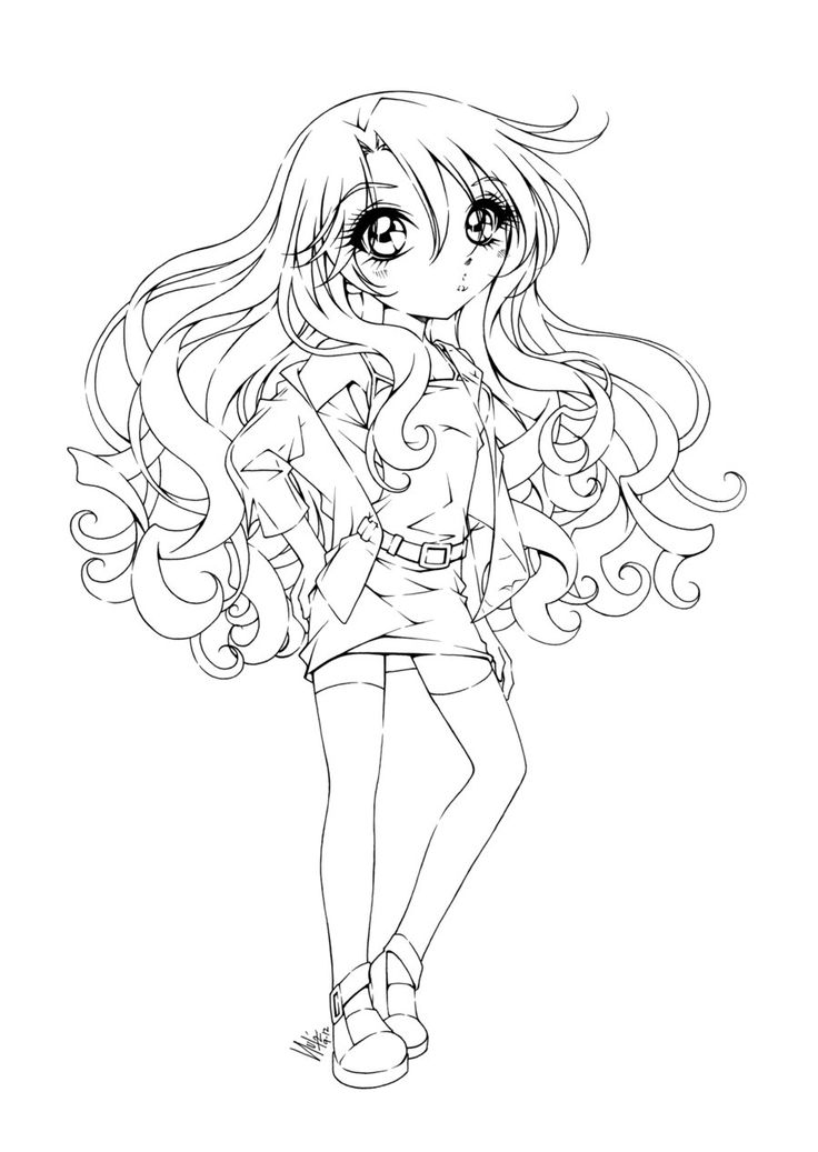 gothic anime girl coloring pages - Girl Anime Coloring Pages