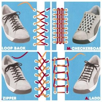 15 ways to tie your shoes F