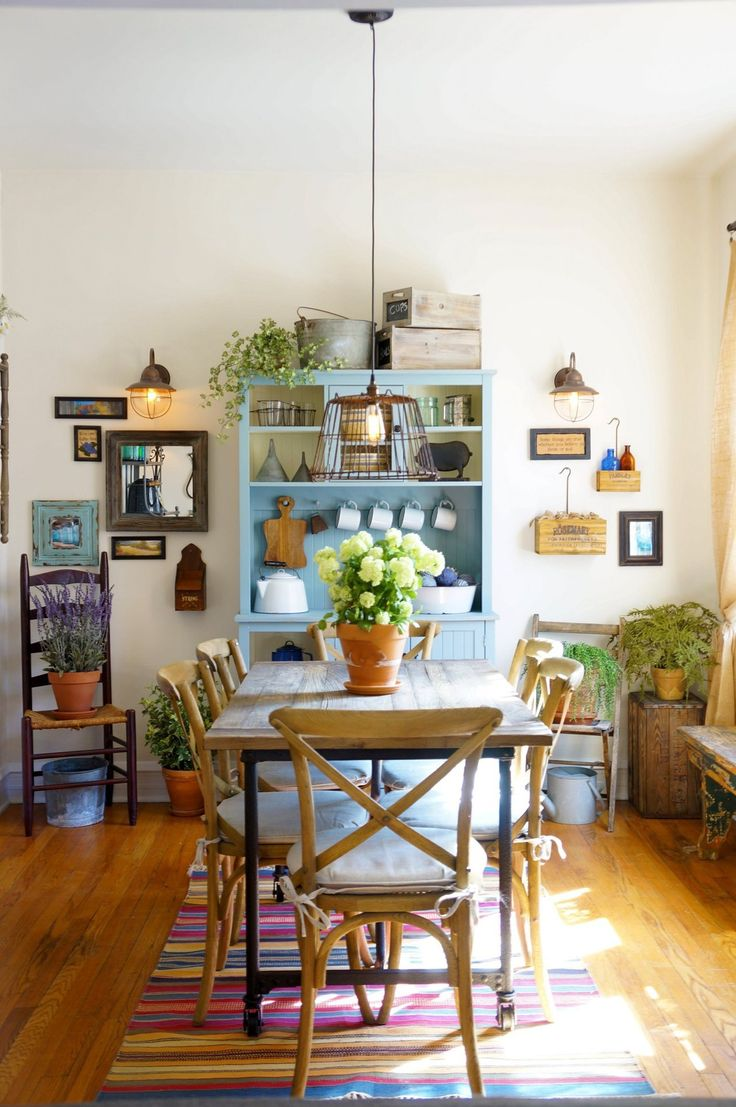 House Tour Cozy Farmhouse Style In Chicago Country Dining RoomsCountry