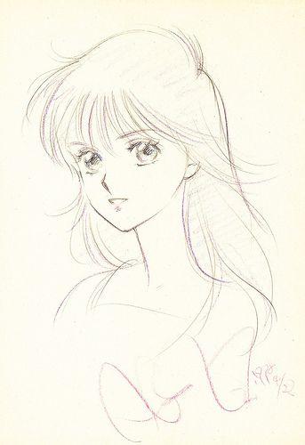 Sketch by manga artist Akemi Takada.