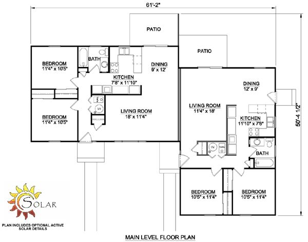 10 best house plans images on pinterest tiny houses for Duplex plans that look like single family