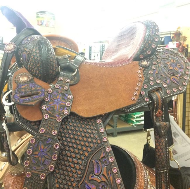 Purple Pozzi Pro Racer by Double J Saddlery
