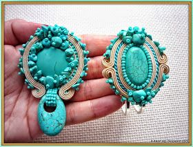 Blog z autorską biżuterią robioną techniką sutasz (soutache). Kolczyki, wisiorki, zawieszki, broszki, pierścionki, bransoletki, komplety