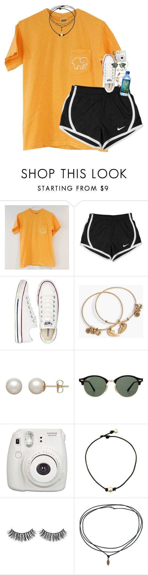 """Customized Set!!1111!!!"" by classynsouthern ❤ liked on Polyvore featuring NIKE, Converse, Alex and Ani, Honora, Ray-Ban, Fujifilm and Rimini"