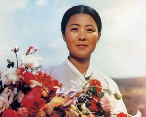 Flower Girl from a classic North Korean movie