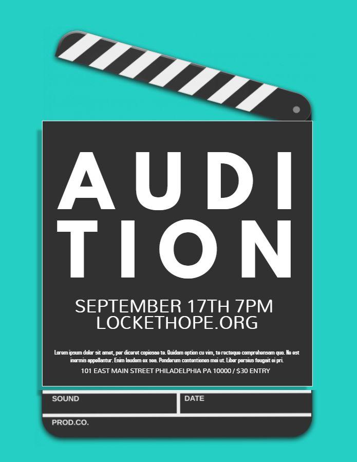 audition flyer template - Vatozatozdevelopment - auditions flyer template