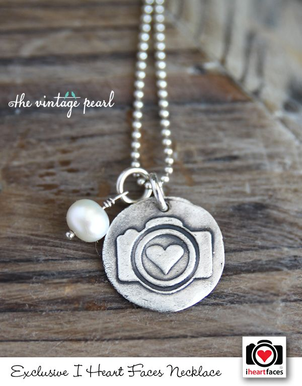 LOVE this! A perfect Christmas gift! The I Heart Faces Hand-Stamped Camera Necklace. So cute!! #photography #Camera