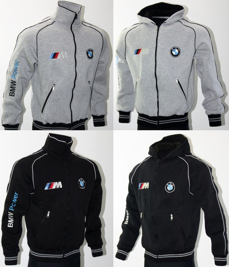 Details About BMW M-Power Fleece Jacket Hoodie Coat Veste