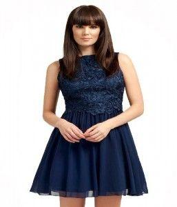 Lace Dress Navy