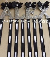 Hair Bow Holder - Cheer Bow Holder One Sparkle Letter - Any Colors Any 1 Letter