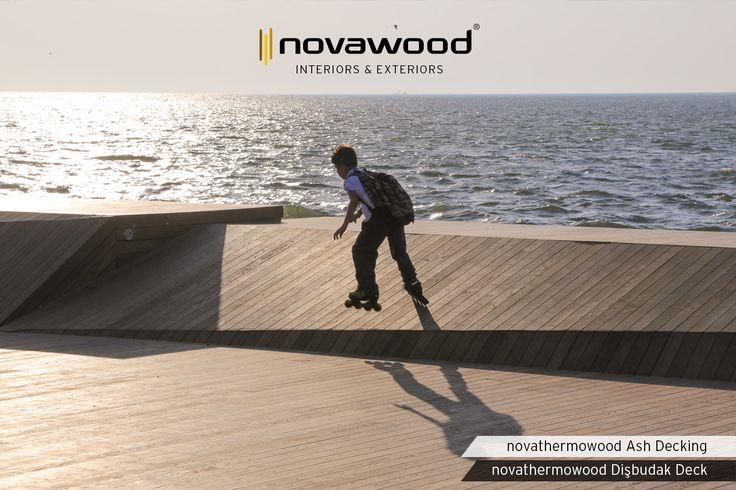 novathermowood Ash Decking is the right choice for exterior spaces with intense circulation due to it's a hardwood with a high number of grains. Architecture: Studio Evren Başbuğ Ref: Bostanlı Footbridge & Sunset Lounge - İzmir / Turkey #novawood #novathermowood #thermowood #thermallymodified #cladding #rönesansholding #residential #timber #architecture #residence #sustainable #hospitality #residentialdesign #architectureproject #exterior #exteriordesign #woodcladding #construction #building