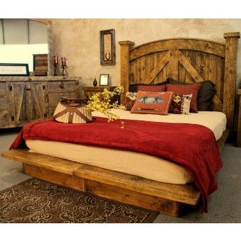 LOVE this reclaimed barn wood bed! I think I need one...:) King size please